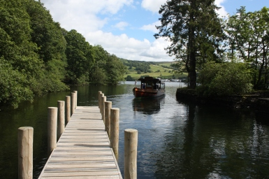 Ferry in the Lake District, UK. Copyright Maria Delaney
